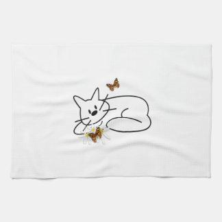 落書き猫 キッチンタオル