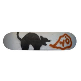 落書き猫 21.6CM オールドスクールスケートボードデッキ