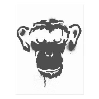落書き猿 ポストカード