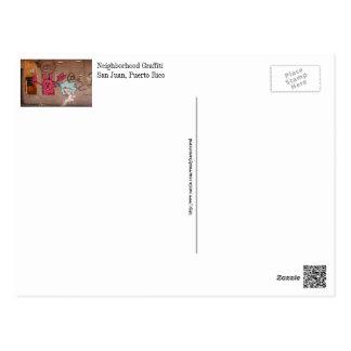 落書き、サンファン、プエルトリコ ポストカード
