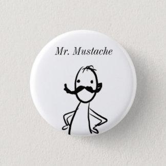 落書き、Mustache氏 3.2cm 丸型バッジ