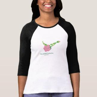 (落雷の収縮の)女性の3/4枚の袖のワイシャツ Tシャツ
