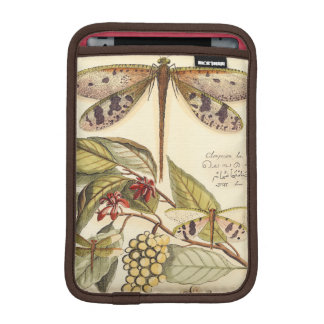 葉およびフルーツを持つトンボ iPad MINIスリーブ