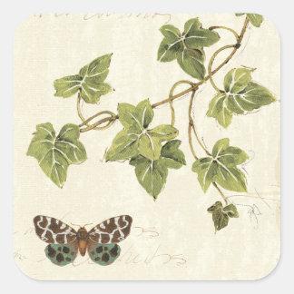 葉および蝶 スクエアシール