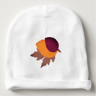 葉が付いているカスタムなベビーの綿の帽子 ベビービーニー