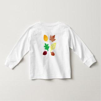葉が付いている幼児の長袖のTシャツ トドラーTシャツ