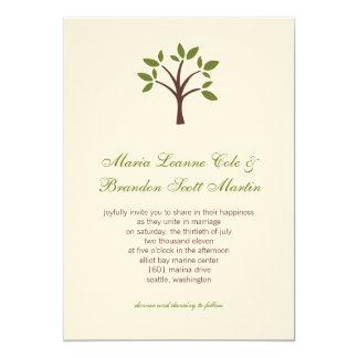 葉が多い木の結婚式招待状 カード