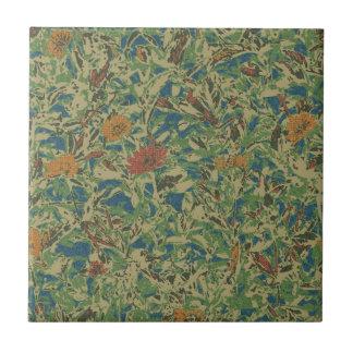 葉のカムフラージュパターンに対する花 タイル
