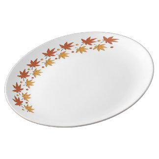 葉のデザインパターン~editable背景色 磁器プレート