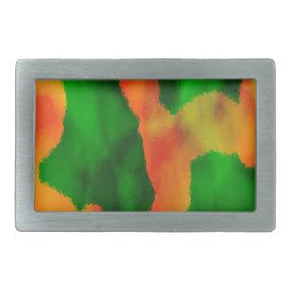葉のデジタル芸術 長方形ベルトバックル