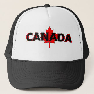 葉のトラック運転手の帽子が付いているカナダ キャップ