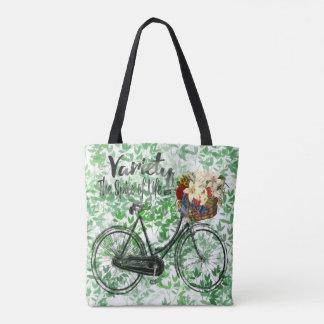 葉のトートバックの変化生命バイクのスパイス トートバッグ