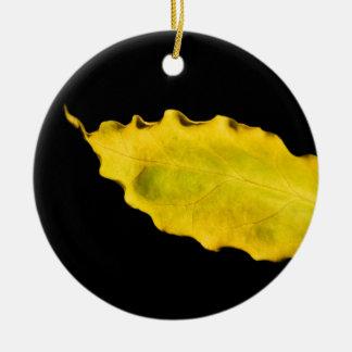 葉のハート セラミックオーナメント