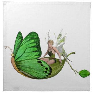 葉のボートのElvenの妖精 ナプキンクロス
