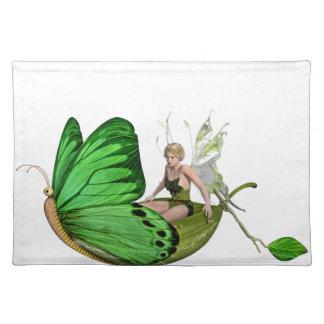 葉のボートのElvenの妖精 ランチョンマット