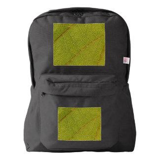 葉のマクロアメリカの服装のバックパック AMERICAN APPAREL™バックパック