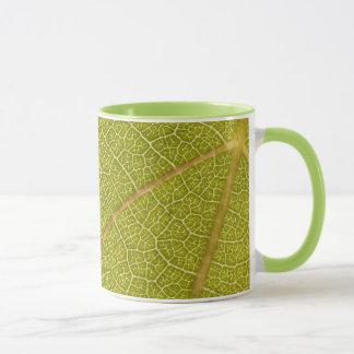 葉のマクロコーヒー・マグ マグカップ