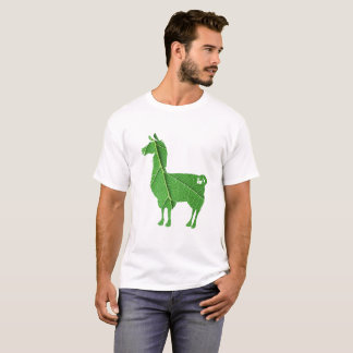 葉のラマのTシャツ Tシャツ