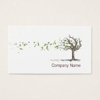 葉の名刺のテンプレートの禅の風の木 名刺