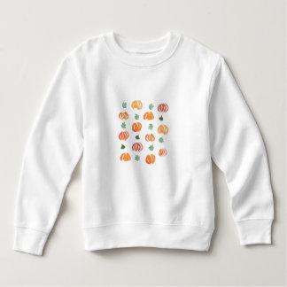 葉の幼児のスエットシャツが付いているカボチャ スウェットシャツ