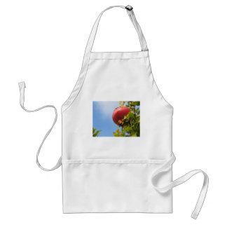 葉の木の独身ので赤いザクロのフルーツ スタンダードエプロン