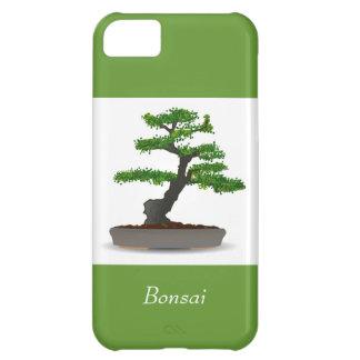 葉の点が付いている盆栽の日本のなミニチュア木 iPhone5Cケース