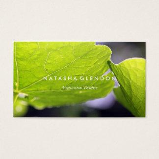 葉の緑の自然の禅の名刺 名刺