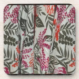 葉の花の生地の服パターンテンプレートのdiyおもしろい コースター