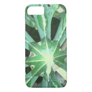 葉の雨滴 iPhone 7ケース