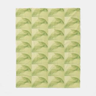 葉の骨組影 フリースブランケット