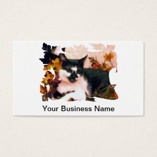 葉のFractalizedのタキシードの子ネコ 名刺