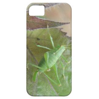 葉のiPhone 5の例の緑のコオロギ iPhone SE/5/5s ケース