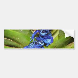 葉1の青い毒投げ矢のカエル バンパーステッカー