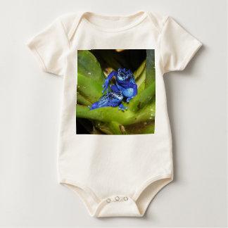葉1の青い毒投げ矢のカエル ベビーボディスーツ