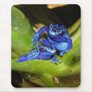 葉1の青い毒投げ矢のカエル マウスパッド