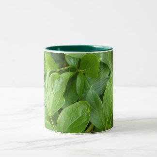 葉 ツートーンマグカップ