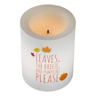 葉、微風、カボチャは良否を明りにすかして調べます喜びます LEDキャンドル