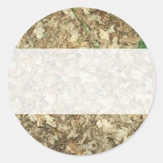 葉|森林|床|葉が多い|地面 丸形シールステッカー