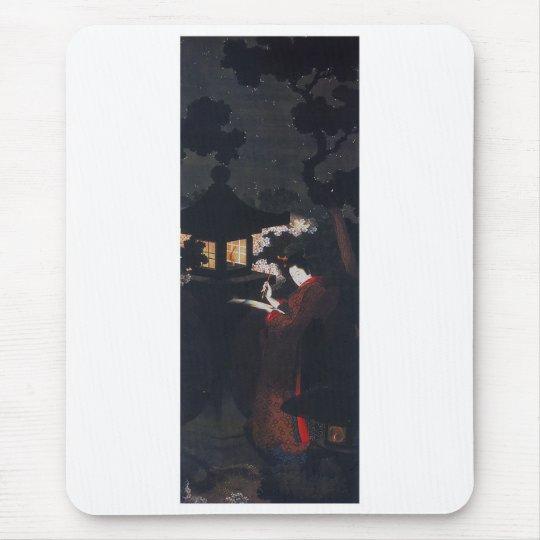 葛飾応為、『 夜桜美人図 』 マウスパッド