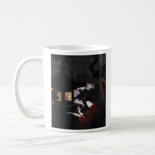 葛飾応為、『 夜桜美人図 』, Katsushika Ōi コーヒーマグカップ
