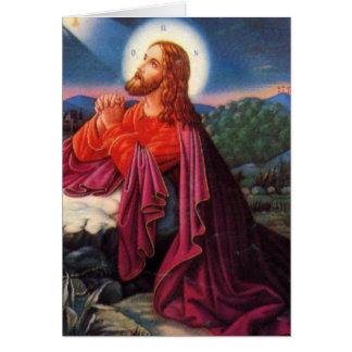 葬儀に神聖なカード イエス・キリスト祈ること カード