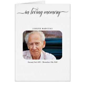葬儀のプログラム/告別式のパンフレット カード