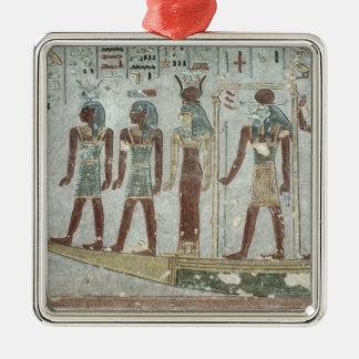 葬式のバークのKhnumを描写するレリーフ、浮き彫り メタルオーナメント
