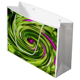 葱類の抽象芸術 ラージペーパーバッグ