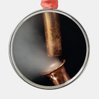 蒸気が付いている銅の管 メタルオーナメント