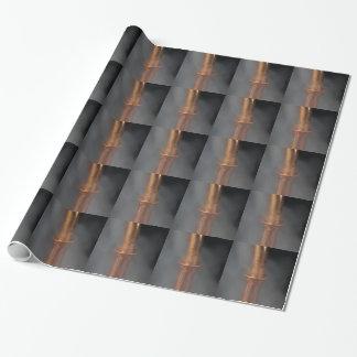 蒸気が付いている銅の管 ラッピングペーパー