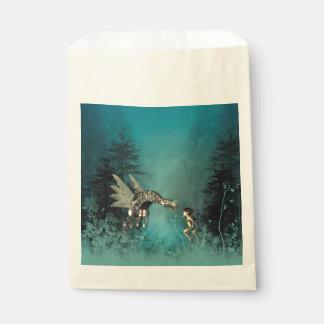 蒸気のドラゴンを持つかわいい妖精 フェイバーバッグ
