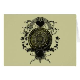 蒸気のパンクのコグのデザイン カード