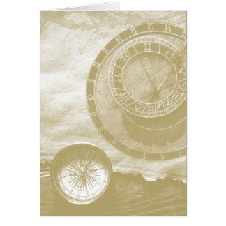 蒸気のパンクのコンパスの芸術 カード
