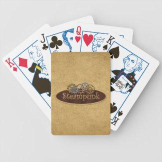 蒸気のパンクのテーマのポーカーゲームカード バイスクルトランプ